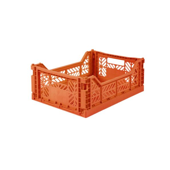 Faltbox Klappbox ORANGE midi - 40x30x14cm Aykasa