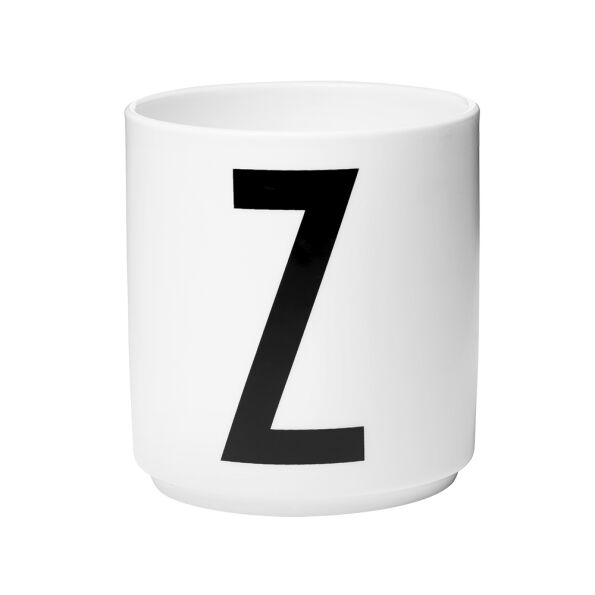 Design Letters Cup Z - weiss - AJ Design Becher H. 8,5cm